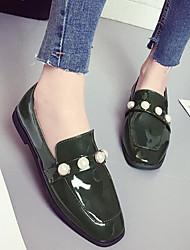 preiswerte -Damen Schuhe Lackleder Frühling Sommer Komfort Flache Schuhe Runde Zehe Für Normal Schwarz Braun Grün