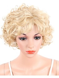 cheap -Synthetic Wig Curly Bob Haircut / Pixie Cut Synthetic Hair Highlighted / Balayage Hair / Side Part Blonde Wig Women's Short / Long Capless