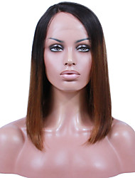 cheap -Remy Human Hair Lace Front Wig Chinese Hair Straight With Baby Hair 130% Density 100% Virgin African American Wig Natural Hairline Medium