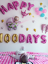 abordables -16 pulgadas - happy baby girl 100day balloons set beter gifts® birthday supplies