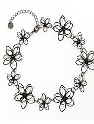 женские колье ожерелья пластиковые цветочные случайные ювелирные изделия для повседневной жизни