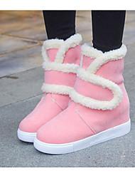 economico -Da donna Scarpe Pelle nubuck Autunno Inverno Comoda Stivali da neve Sneakers Per Casual Nero Beige Rosa