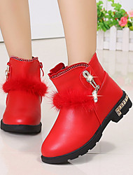 cheap -Girls' Shoes PU Winter Comfort Boots Mid-Calf Boots For Casual Pink Red Black