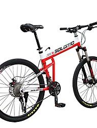 Vélo tout terrain Cyclisme 30 Vitesse 26 pouces/700CC Microshift 24 Frein à Disque Fourche de suspension Pliage en alliage d'aluminium