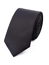 cheap -Men's Polyester Neck Tie,Casual Dots All Seasons Black