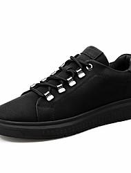 abordables -Homme Chaussures Matières Personnalisées Hiver Automne Doublure fluff Confort Basket pour Décontracté Bureau et carrière Noir