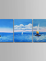 cheap -Oil Painting Hand Painted - Still Life Abstract Canvas Three Panels
