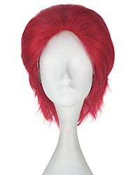cheap -Synthetic Hair Wigs Straight Capless Carnival Wig Halloween Wig Party Wig Lolita Wig Natural Wigs Cosplay Wig Short Red