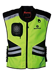 cheap -Men Motorcycle Vest Reflective Security Night clothes jecket Protector Gear for Motorsport