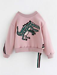 cheap -Girls' Animal Print Blouse,Cotton Winter Long Sleeves Blushing Pink