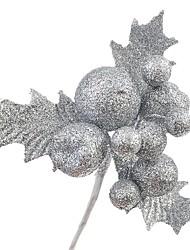 abordables -Décorations de Noël Articles pour Célébrer Noël Décorations d'arbre de noël Jouets Sphère Forme de Feuille Vacances Costume de père noël