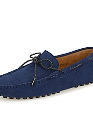 cheap -Men's Shoes Leather Spring / Summer Moccasin Loafers & Slip-Ons Gray / Navy Blue / Burgundy