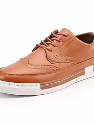 abordables -Homme Chaussures Gomme Hiver Automne Confort Basket pour De plein air Noir Orange Gris