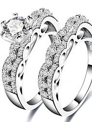 economico -Per uomo Per donna Anello a metà dito Zircone cubico Classico Regalo Dolce Di tendenza Elegant Zirconi Rame Di forma geometrica Gioielli
