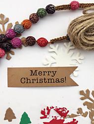 abordables -100 unids etiquetas de regalo de papel de navidad decorativos colgando tarjetas diy accesorios de navidad