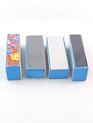 preiswerte -4 stücke schwamm polieren datei muster polierblock alle puffer nail art liefert nagel werkzeuge