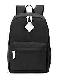 cheap -Women Bags Canvas School Bag Zipper for Casual All Season Black Gray