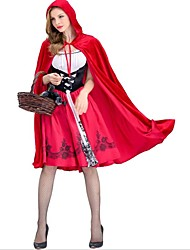 cheap -Little Red Riding Hood Cosplay Costumes Party Costume Female Christmas Halloween Carnival New Year Festival / Holiday Halloween Costumes
