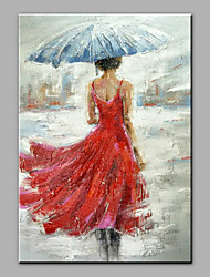 cheap -Oil Painting Hand Painted - People Antique Canvas