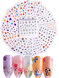 abordables -50 pcs Mode Stickers / Set / Autocollants 3D pour ongles Quotidien
