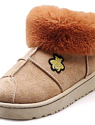 Недорогие -Жен. Обувь Кашемир Зима Зимние сапоги Ботинки Круглый носок Сапоги до середины икры для Повседневные Черный Серый Коричневый