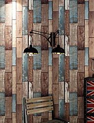 abordables -Apparence Bois Fond d'écran pour la maison Classique Revêtement , PVC/Vinyl Matériel adhésif requis fond d'écran , Couvre Mur Chambre