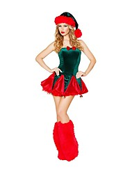 cheap -Santa Suits Mrs.Claus Outfits Female Christmas Festival / Holiday Halloween Costumes Red Sexy Lady