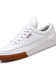 abordables -Homme Chaussures Similicuir Printemps / Automne Confort Basket Blanc / Noir