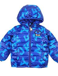 Veste de Ski Garçon Marche dans la Neige Ski Sports d'hiver Après Ski Garder au chaud Pare-vent Respirabilité Coton doudoune/Anorak en