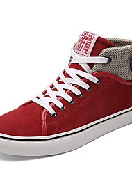 cheap -Men's Shoes Synthetic Microfiber PU Winter Light Soles Sneakers for Casual Black Brown Red