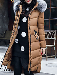 Women's Long Padded Coat,Cute Casual Daily To-Go Solid-Cotton Long Sleeves