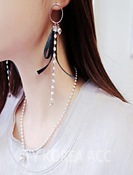Women's Drop Earrings Hoop Earrings Rhinestone Vintage Casual Sweet Lovely Fashion Fabric Imitation Diamond Alloy Geometric Line Jewelry