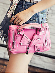 cheap -Women Bags PU Crossbody Bag Zipper for Casual All Season Black Blushing Pink Yellow