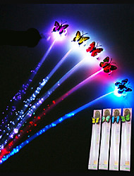 cheap -Glow Blinking Hair Clip Led Braid Show Luminous Braid Optical Fiber Wire Hairpin Ramdon Color