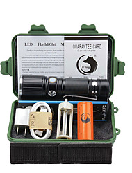 U'King LED Flashlights / Torch LED 2000 lm 3 Mode Cree XM-L T6 with Battery and Adapter Zoomable Adjustable Focus Clip
