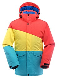 cheap -Men's Ski Jacket Warm Waterproof Windproof Breathability Lightweight Skiing Ski / Snowboard Winter Sports Cotton Fiber