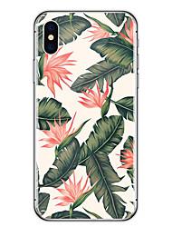 Para iPhone X iPhone 8 Case Tampa Ultra-Fina Transparente Estampada Capa Traseira Capinha Flor Macia Borracha para Apple iPhone X iPhone