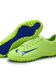 baratos -Homens sapatos Couro Sintético / Couro Ecológico Verão / Inverno Solados com Luzes Tênis Futebol Preto / Laranja / Verde