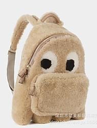 cheap -Women Bags Velvet Kids' Bag Feathers / Fur for Casual Winter Fall Blue Coffee Light Grey