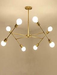abordables -QINGMING® 8 lumières Spoutnik Lustre Lumière d'ambiance Plaqué Métal Style mini 110-120V / 220-240V Ampoule non incluse / E26 / E27