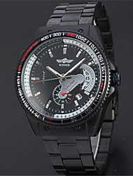 cheap -WINNER Men's Wrist Watch Calendar / date / day Stainless Steel Band Vintage / Casual / Fashion Black / Automatic self-winding