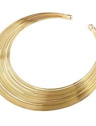 Недорогие -Жен. Ожерелья-бархатки - Массивный, Дамы Золотой Ожерелье Бижутерия Назначение Для вечеринок, Официальные