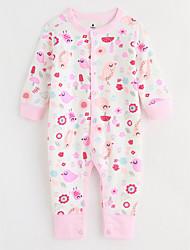 abordables -bébé Une-Pièce Avec motifs Coton Automne Manches Longues Rose Claire