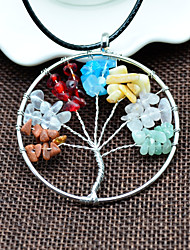 cheap -Women's Pendant Necklace Stone Alloy Pendant Necklace , Daily Casual