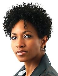 economico -Parrucche Lace Front Sintetiche Afro Kinky Capelli sintetici Parrucca riccia stile afro Nero Parrucca Per donna Corto Lace frontale