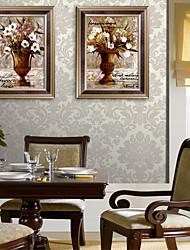 economico -Floreale/Botanical Natura morta Illustrazioni Decorazioni da parete,PVC Materiale con cornice For Decorazioni per la casa Cornice Salotto