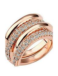 abordables -joyería cúbica plateada oro metálico del zirconia cúbico de las mujeres para el regalo valentine