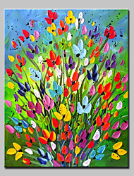 Hand-Painted Floral/Botanical Vertical,Simple Modern One Panel Canvas Oil Painting For Home Decoration