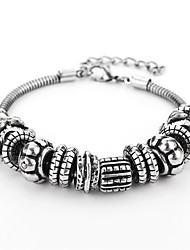 cheap -Men's Geometric Chain Bracelet - Gothic, Hip-Hop Bracelet Silver For Daily / Date