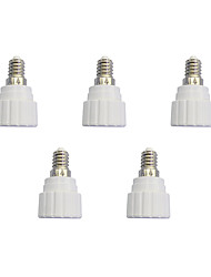 E14 to GU10 Quick Bulb Converter Bulb Accessory 5Pcs